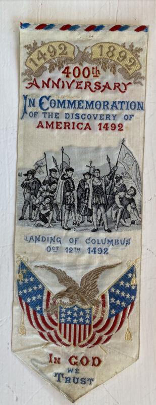 Silk Woven Bookmark 400th Anniversary Of Discovery America