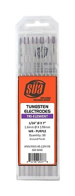 Sa - Tri-element Tungsten Electrode - Tig - 116 X 7 - Purple Tip - 10 Pack