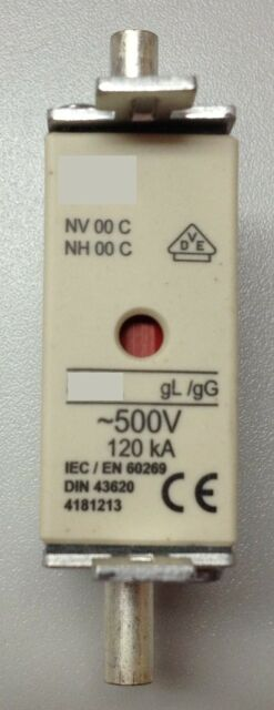 NH00 Schmelzsicherung 25A  Sicherung Messersicherung
