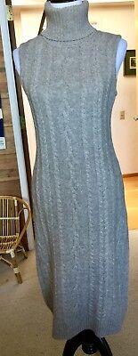 New NWT Lauren Ralph Lauren Gray Cashmere Blend Sleeveless Dress Org. $250.00
