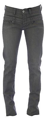 Doppel Taille Jean (Blau Blood Damen Dunkelgrau Bartlett Doppel Taille Klassisch Gehoben Jeans Neu)