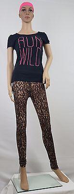 Material Girl Juniors Wild Graphic Tee Run Wild w/ Leopard Leggings and Headband (Wild Girl)