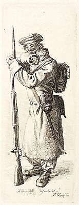 JOHANN CHRISTOPH ERHARD - DER RUSSISCHE INFANTERIST - Radierung 1815