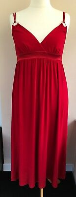"""NEW Apart Red Jersey Strappy Long Party Dress Size 20 Bust 40""""  - Party Apart"""