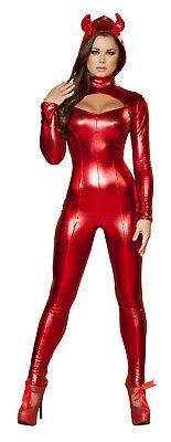 Teufelskostüm Teufel Kostüm Overall Anzug figurbetont Fasching Karneval rot