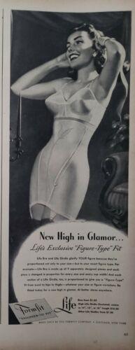 Lot Vintage 1948 Clothing Bra Girdle Print Ads Wall Art Decor Ephemera
