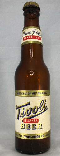 Tivoli Pilsener Beer 12 Ounce IRTP Beer Bottle with Original Cap