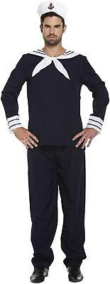 Sailor Fancy Dress Dressing Up Outfit  Blue Navy Costume Male Adult BRAND NEW - Sailors Dressing Up Outfits