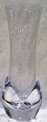 Signed Daum France Crystal Vase Corolle Pattern