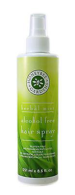 Honeybee Gardens: Herbal Mint Alcohol Free Hair Spray, 8 oz