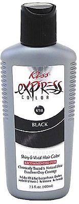 KISS Express Semi-Permanent Hair Color, Black [K98] 3.50 oz