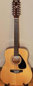 Yamaha FG-413S-12 12 String Acoustic Guitar with Hard Shell Case