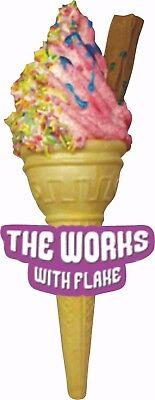ICE CREAM VAN STICKER - THE WORKS WITH FLAKE ice cream