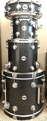 DW Drums Collector's Series Ebony Stain (4-piece Jazz Kit)
