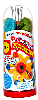 Alex Cool Spool Knitting Kids' Craft Yarn Kit w/ Wooden French Knitting - Alex Yarn Craft Kit