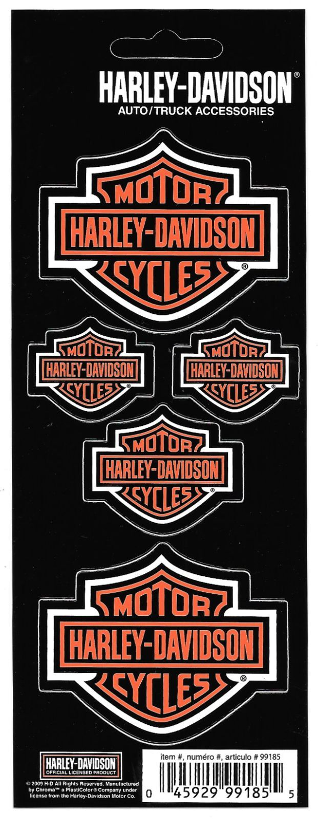Harley Davidson Decal Sticker Sheet of 5 Logos New Window Toolbox Laptop