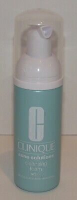 Clinique Acne Solutions Cleansing Foam Cleanser 1.7 Oz 50 mL Travel Size NWOB