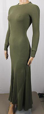 Polo Ralph Lauren Bodenlang Ärmeln Olivgrün Kleid $ 145 - Lauren Langen Ärmeln Baumwolle