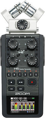 New Zoom H6 Handy Modular Field Recorder Auth Dealer Warranty Best Deal on (Best Portable Field Recorder)