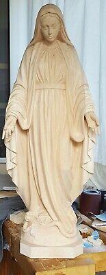 Madonna Immacolata della Medaglia Miracolosa in Legno Scolpito a mano.<br />ALTEZZA CM. 100- 3,28 ft. <br /> NUOVA, New. In Legno scolpito a mano good for indoor Statue