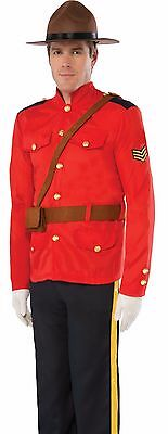 Royal Canadian Mountie Costume Police Officer Trooper Mens Adult - Fast Ship -