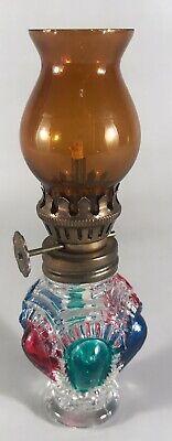 Miniature Vintage Glass Oil/ Paraffin Lamp