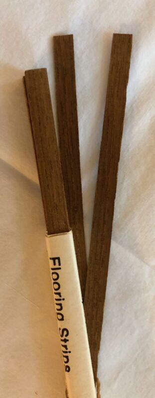 "Dollhouse Miniatures Vintage Teak Wood Flooring Strips (23 12"" Strips)"