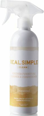 Real Simple Clean Leather Furniture Cleaner & Conditioner - Made in USA, 16 oz