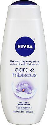 NIVEA Moisturizing Body Wash Care & Hibiscus, Almond Oil Hib
