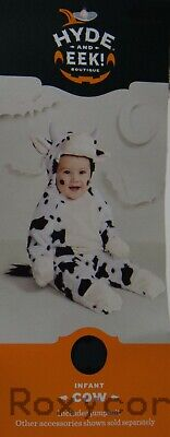 Hyde & Eek! Boutique Halloween Toddler Plush Cow Jumpsuit  Size 18-24 months  (Toddler Halloween)