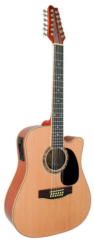 12-saitige Westerngitarre — Akustikgitarre — Gitarre —TONABNEHMER — EQ — 2Farben
