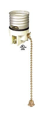 PORCELAIN ~ PULL CHAIN LAMP LIGHT SOCKET ~ Replacement Interior ~ #GB107