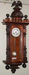 Antique Junghans Black Forest Regulator Wall Clock Eagle Finial Time Strike 42