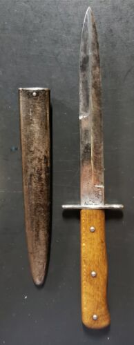 RARE! WWII German Air Force Nahkampfmesser Combat Boot/Trench Knife AUTHENTIC