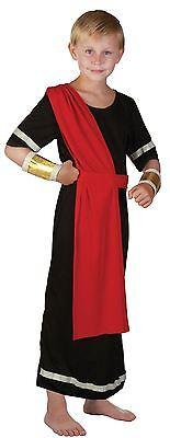 Jungen Römischen Kostüme (Caesar, schwarz, Griechisch/Römisch, Kinderfaschingskostüm Kostüm, Jungen)