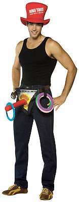 Sleeveless Ring Toss Adult Men's Foam Top Hat Costume Rasta - Ring Toss Kostüm