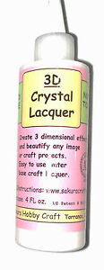 3D Crystal Lacquer  4 oz  -  Jewelry, Glass Pendants - Create 3D Jewelry - BEST!