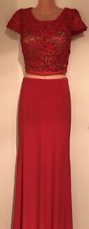Jadore Red Lace Two piece Sz 12 New w/o tags RRP $489
