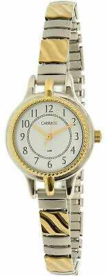Timex Carriage C3C359, Women's 2-Tone Expansion Band Watch, White Dial