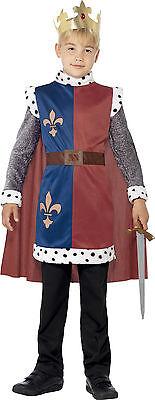 König Paulus Mittelalter Kostüm für Kinder NEU - Jungen Karneval Fasching Verkle ()