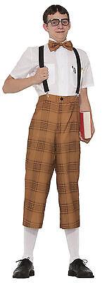 Men's Mr. Nerd Costume Pants Suspenders & Bow Tie Adult Size Standard](Mr Nerd)
