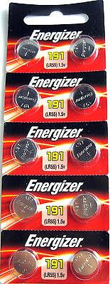 10 Energizer  LR1120 191 LR55 Watch Button Cell Batteries