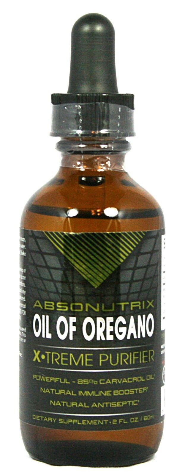 2 Bottles 2oz Oil Of Oregano 43mg Liquid Extract 85% Carv...
