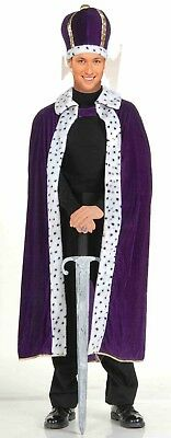 Purple King Robe (Forum Novelties King Robe & Crown Set Purple Adult Mens Halloween Costume 61300 )