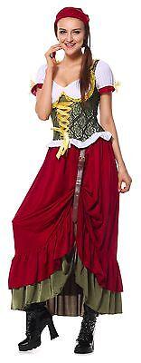 Oktoberfest Renaissance Medieval Wench Gown Dress Costume S-XL  German Beer - Renaissance Girl Kostüm
