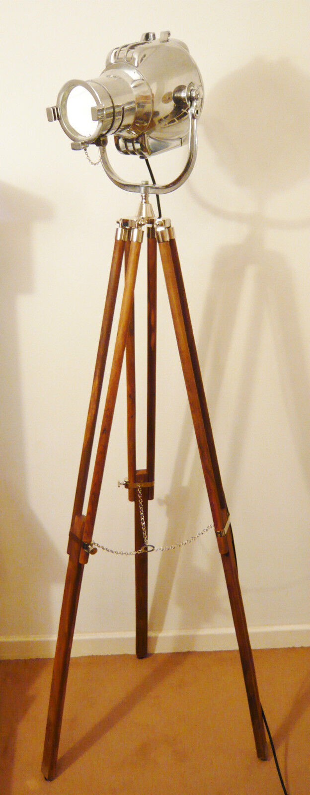 VINTAGE THEATRE LIGHT ANTIQUE FLOOR FILM STUDIO LAMP _57