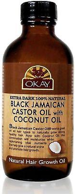 Okay Xtra Dark Black Jamaican Castor Oil With Coconut Oil 4 Oz