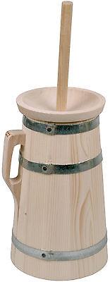 Butterfass Butterschleuder Butterfaß 2 Liter aus Fichtenholz 3-teilig
