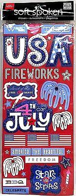 4th Of July Craft Ideas (Me & My Big Ideas Soft Spoken 4th of July 3D & Gemstone STICKERS MEGA SHEET)