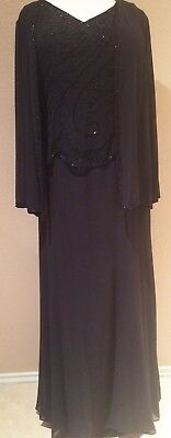 Mother of the Bride/Groom Dress, Plus Size Formal Gowns, Wedding Evening - Black